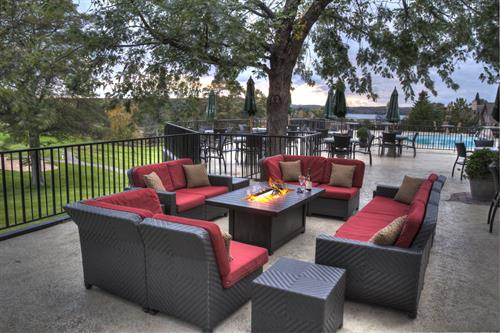 Patio overlooking the Pine Beach East Golf Course