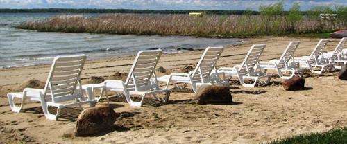 Relax and enjoy the sun, sand and water on one of our beach loungers!