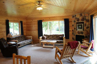 Inside Reunion Lodge 19 - Living room!