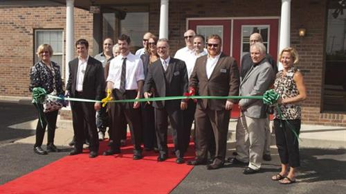 showroom ribbon cutting