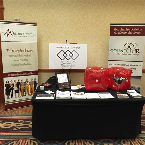 The WIlson Agency and ConnectHR (our HR services division) at a local tradeshow.