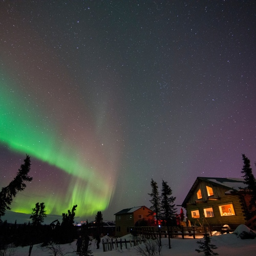 Northern lights over Fairbanks