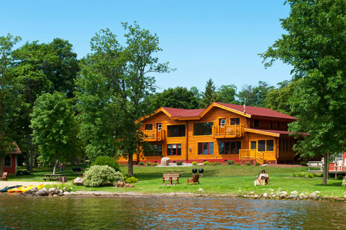 Ten bedroom ten bath log home complex