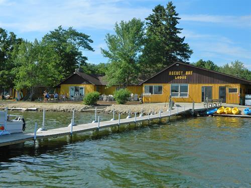 Main Dock at Agency Bay Lodge