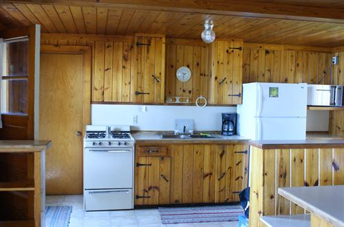 View of the Cabin's kitchen