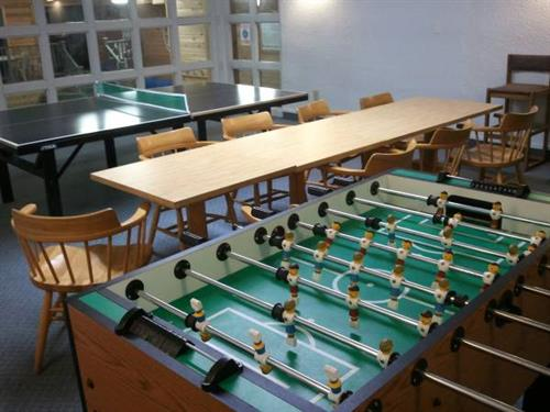 Foosball table in game room
