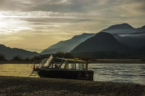 Catching the sunset on the Harrison River