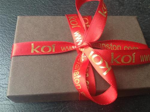 Gift Card box and personalized ribbon