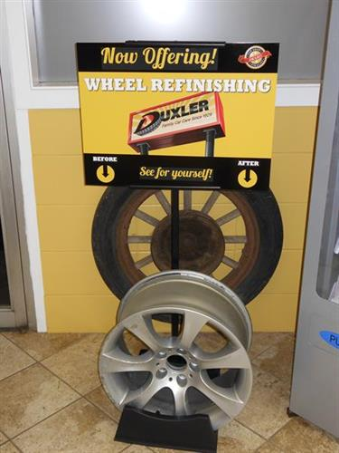 Duxler Wheel Finishing Display