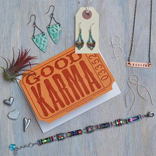 Good Karma letter press greeting card, made in Chicago