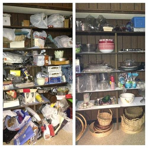 Storage Closet Before and After