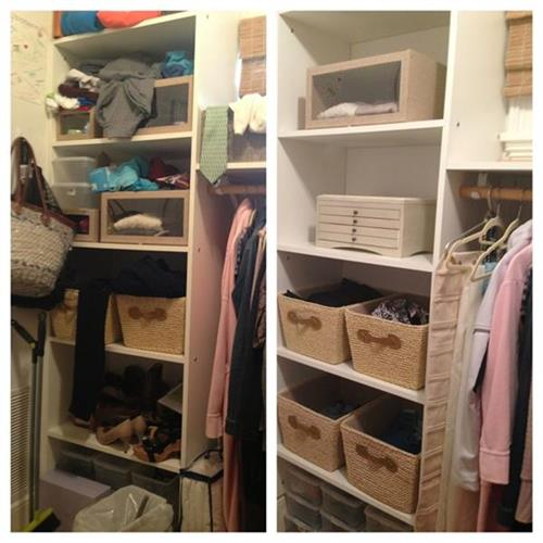 MBR Closet Shelves Before and After