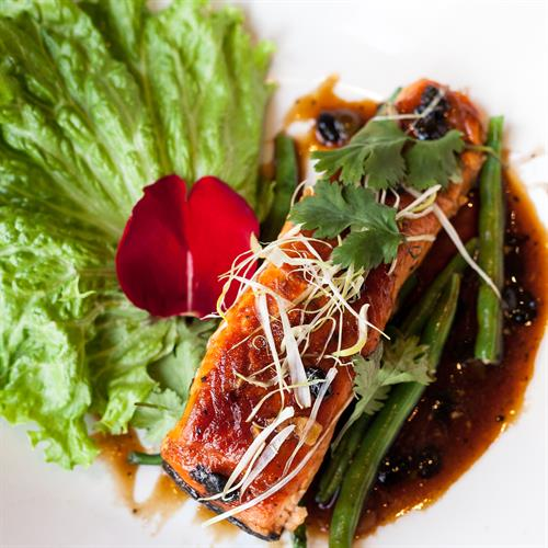 Salmon With Black Bean Sauce