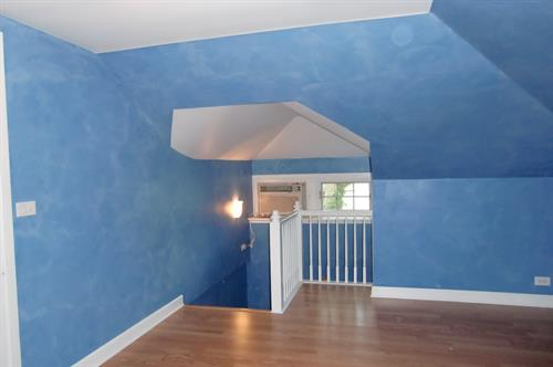 Attic make over with faux painting
