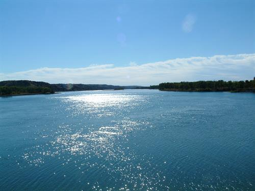 View below Ft. Randall Dam