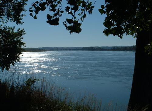 View from Yankton's Riverside Park