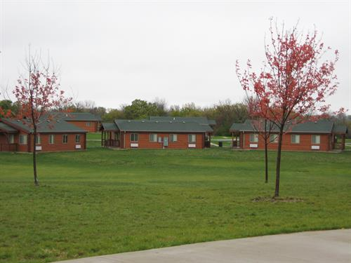 14 Family Cabins and 3 Dorm Cabins - all heated and air conditioned. Available for rent year-round.