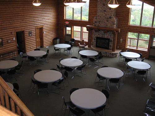The Main Level at the Archbishop Carlson Lodge