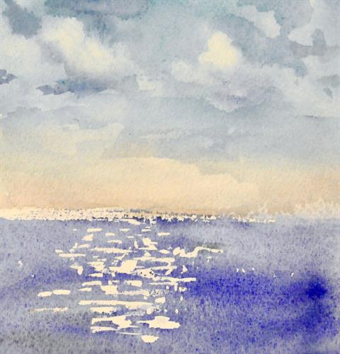 Watercolor Class (painting by Mary Grenning)