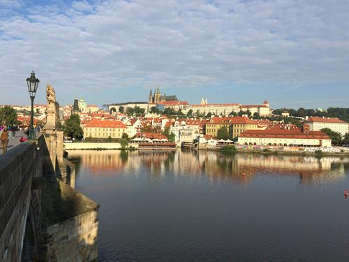 Prague from the Charles Bridge, Czech Republic