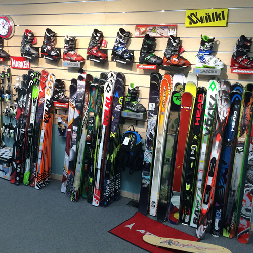 Our large ski wall
