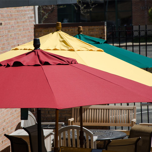 Some of our many colorful umbrellas