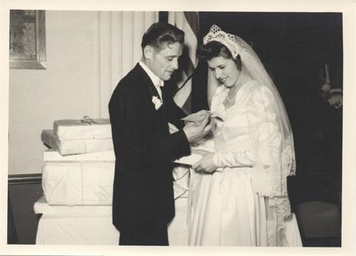 Anna & Leo's wedding day, 1948