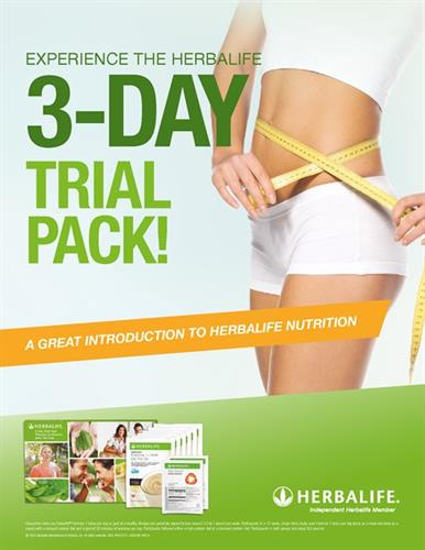 Try our 3 Day Trial, free for non herbalife members or current herbalife customers