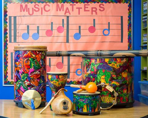 We offer music as part of the Peace of Mind curriculum.