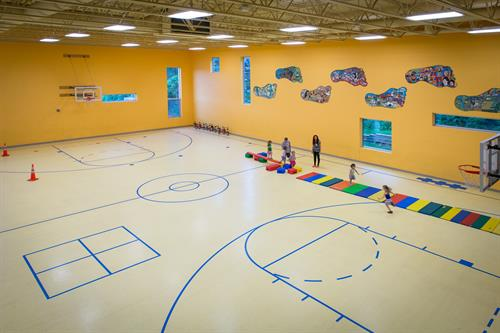 Our gym is a great place to play all year round.