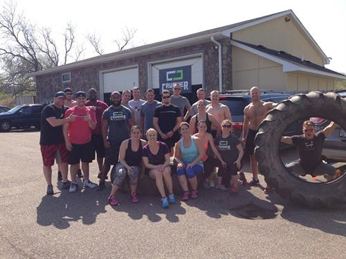 Nothing more fun then flipping tractor tires in the parking lot!  Fitness can be FUN!