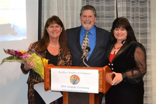 Owner Bill Meyerhoff becomes President at the Pacifica Chamber Annual Awards Ceremony & Installation Dinner in 2014