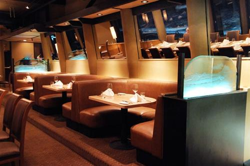 All the seats at the Moonraker have ocean views