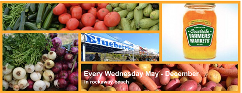 Every Wednesday, May into December, from 2:30 to 6:30pm is the Farmers Market right down the street from the Best Western in Rockaway Beach