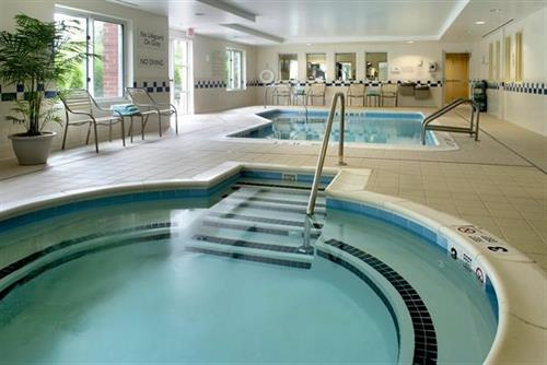 Enjoy our Heated Indoor Pool, Whirlpool Spa and Fitness Center