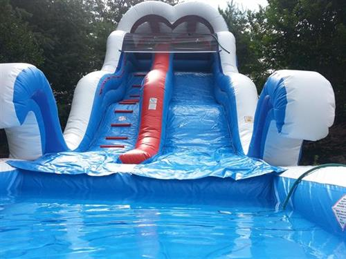 18' High Inflatable Water Slide with Pool