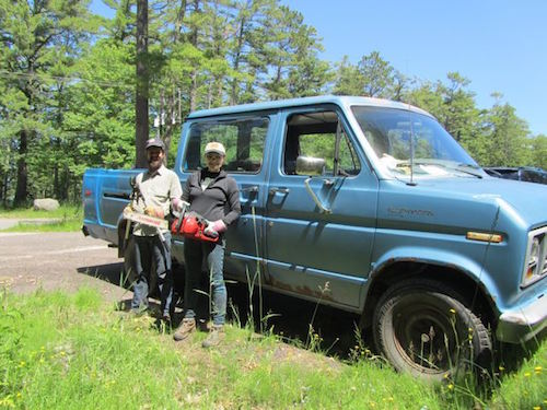 Buckthorn eradication project interns