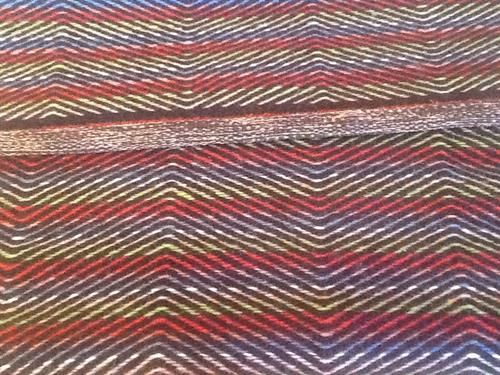 Colorful wool twill rug