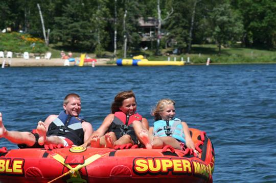 Family fun tubing.