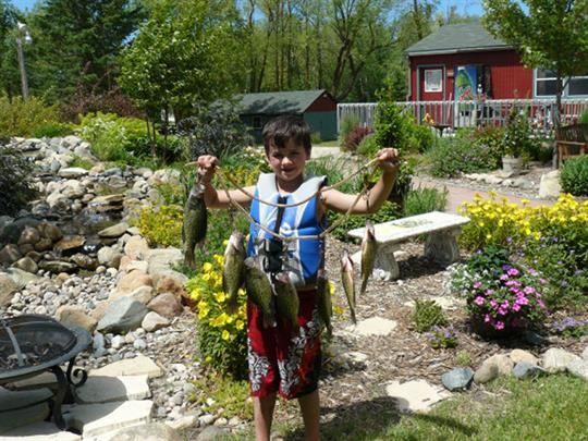 Keep the kids entertained with fishing for sun fish and crappies.