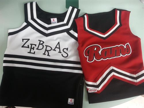 Applique your favorite cheer leader uniform
