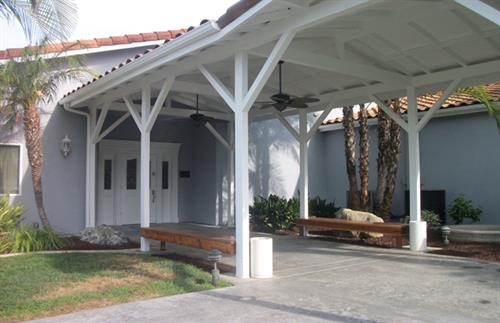 Covered portico entrance