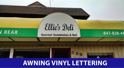 Awning Vinyl Lettering