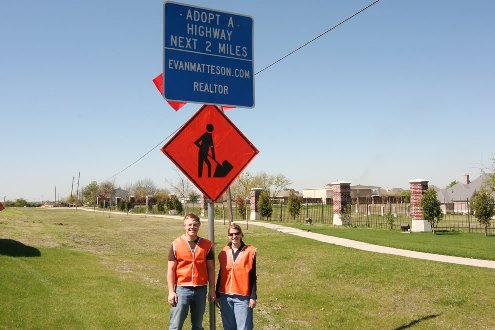 The Matteson Group gives back - Adopt A Highway campaign