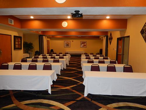 Meeting room can accommodate up to 75 people!