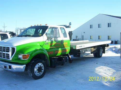 This is our flatbed used for 4 wheel drive vehicles or specililty cars and cargo.