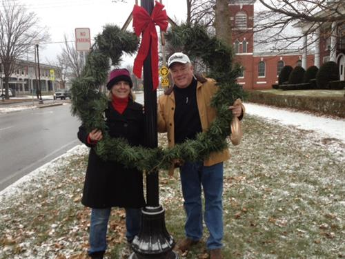"Heather & Tom Minkler helping with ""Lights Up""!"