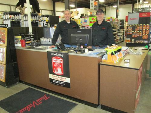 Rick and Don are available to help you in our newley expanded Paint Center