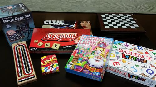 Games available to play at the bakery