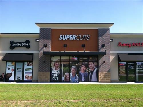 SuperCuts Chanel Letters with Window Graphics